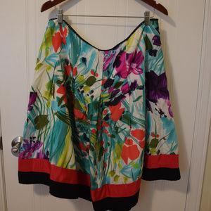 Nygard Full A-Line Silk Skirt- Size 16